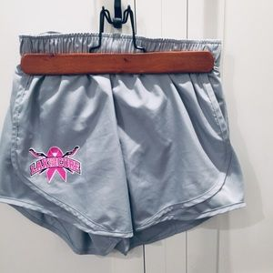 Nike Dy fit Lax for the Cure running shorts